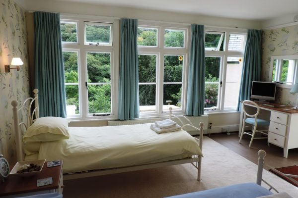 Garden Room (3rd bedroom) choose from 2 singles or large double bed